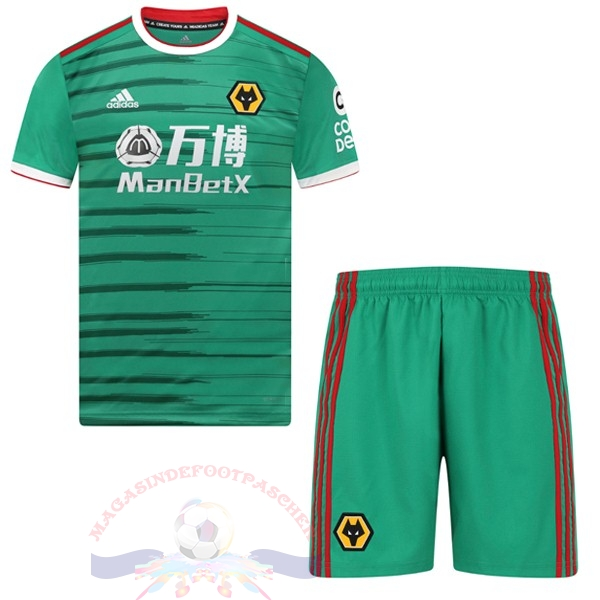 Magasin Foot adidas Third Ensemble Enfant Wolves 2019 2020 Vert