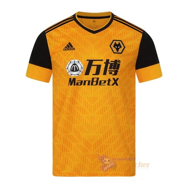 Magasin Foot adidas Domicile Maillot Wolves 2020 2021 Jaune