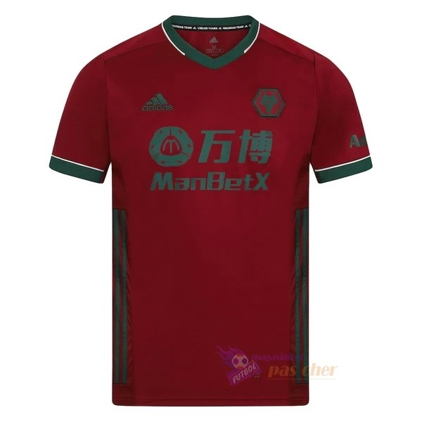 Magasin Foot adidas Third Maillot Wolves 2020 2021 Rouge