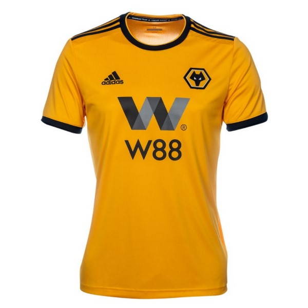 Magasin Foot adidas Domicile Maillots Wolves 2018 2019 Jaune